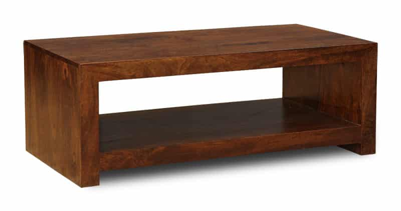 Dakota Dark Open Coffee Table Solid Wood Furniture